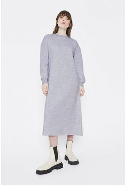 Grey marl Maxi Sweat Dress