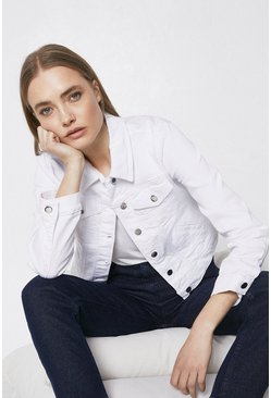 White Organic Classic Denim Jacket