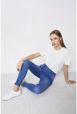 Pale wash 98s Organic Mid Rise Classic Skinny Jean