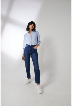 Mid wash 86s Organic Original Mom Fit Jean