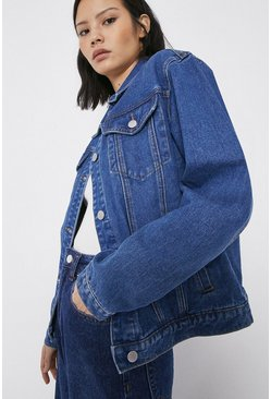 Mid wash Longline Denim Jacket