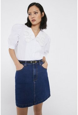 Mid wash 5 Pocket Denim Mini Skirt