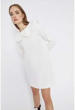 Ivory Collared Sweater Dress