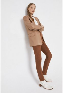 Tan Faux Suede Legging