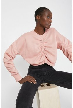 Pink Ruched Sweat