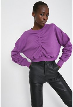 Purple Ruched Sweat