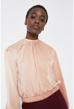 Peach Top In Satin