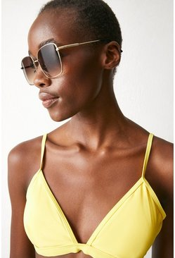 Bright yellow Adjustable Bikini Top