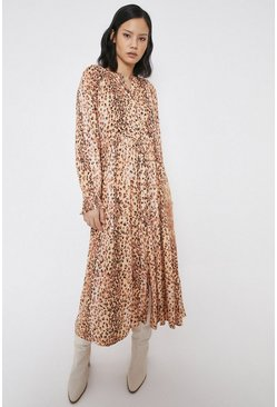 Midaxi Dress In Animal Print