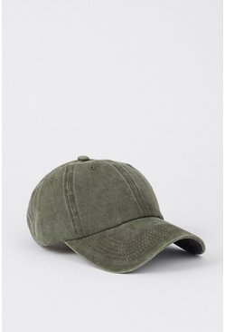Khaki Washed Denim Cap