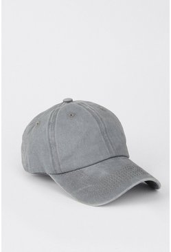 Light grey Washed Denim Cap