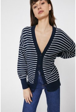 Navy Mini Ottoman Cardigan