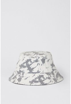 Light grey Tie Dye Bucket Hat