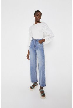 Light wash Wide Leg High Waist Jeans