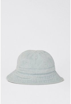 Denim-blue Denim Wash Bucket Hat