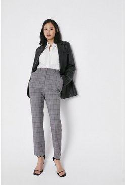 Multi Check Slim Leg Trouser