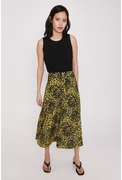 Skirt In Yellow Animal