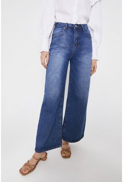 Mid wash Denim Wide Leg Jean