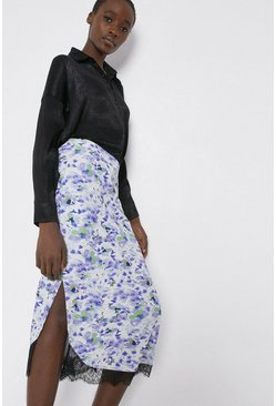 Skirt In Lilac Floral