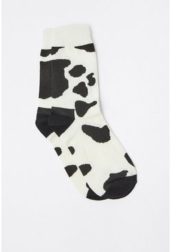 Blackwhite Cow Pattern Socks