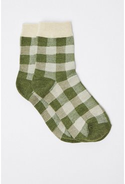 Light khaki Gingham Socks