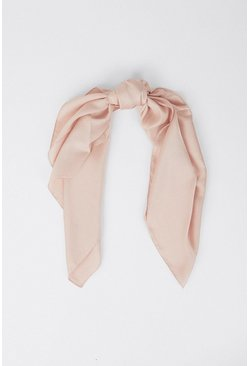 Baby pink Large Square Head Scarf/neck Scarf