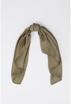 Khaki Large Square Head Scarf/neck Scarf