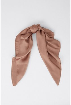 Taupe Large Square Head Scarf/neck Scarf