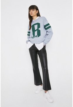 Grey Brooklyn Varsity Sweat