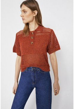 Rust Rustic Knit Tee
