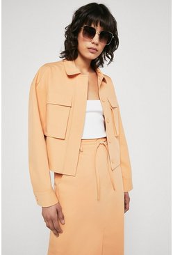 Peach Utility Pocket Jacket