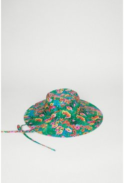 Floral Tie Detail Bucket Hat
