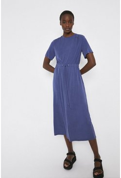 Navy Premium Modal Elastic Waist Dress
