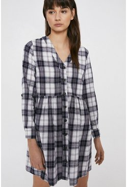 Multi Checked Smocked Dress