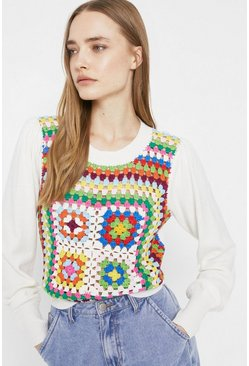 Multi Crochet Front Jumper