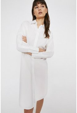 White Shirt Dress In Cotton