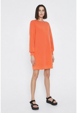 Orange Premium Modal Sweat Dress