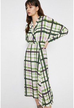 Multi Wrap Dress In Check
