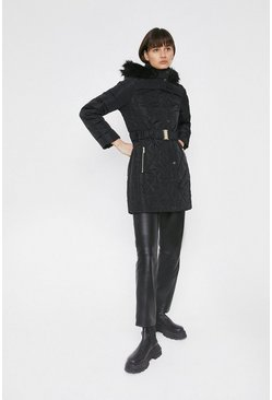 Black Long Luxe Padded Coat