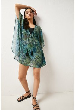 Leaf green Printed Kaftan