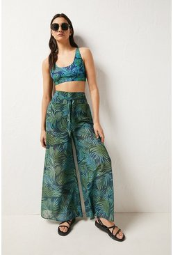 Leaf green Printed Trouser