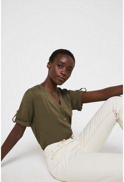 Khaki Over The Head Top