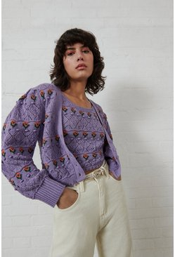 Purple Bobble Fairisle Knit Vest