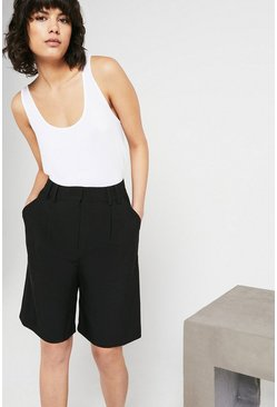 Black Tailored City Short