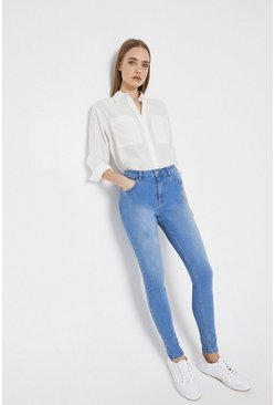 Light wash 98s Organic Cotton High Waisted Skinny Jeans