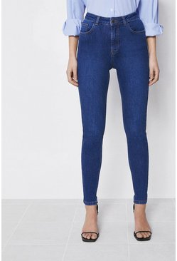 Mid wash Organic Cotton High Waisted Skinny Jeans