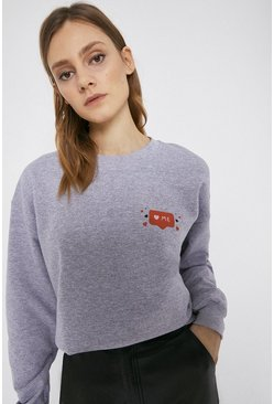 Grey marl Alice Skinner X Love Me Sweat