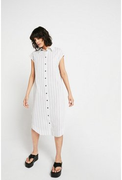 Mono Cotton Shirt Dress In Stripe