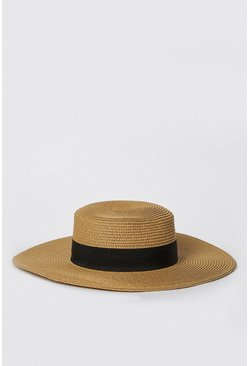 Tan Straw Sun Hat