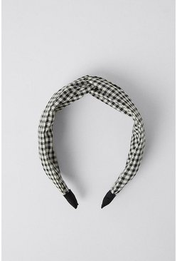 Blackwhite Gingham Headband